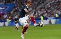 """Antoine Griezmann lors de France-Belgique le 7 juin 2015.//// """"made in Burgundy"""" !!! Born in Mâcon Saône et Loire"""