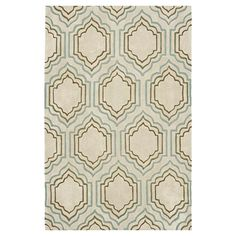 Hand-tufted rug with a lantern-inspired motif.  Product: RugConstruction Material: PolyesterColor: Be...
