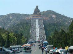 The Nashan Great Buddha, Longkou, China.