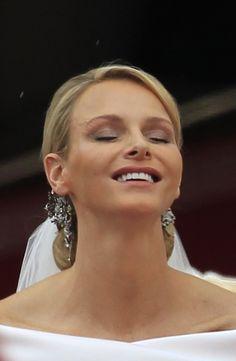 Princess Charlene of Monaco on her wedding day to Prince Albert II of Monaco. She is sublime!