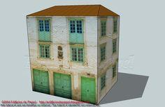 Maqueta de papel de casa blasonadaEsta maqueta de papel reproduce una antigua casa blasonada. De colores suaves y luminosos en sus fachadas, el original debió de ser muy alegre en sus tiempos de esplendor.
