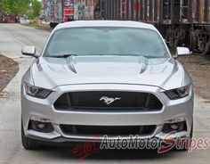 2017 Ford Mustang Digital Fade Faded Hood Spears Stripes Vinyl Graphic 3m Decals