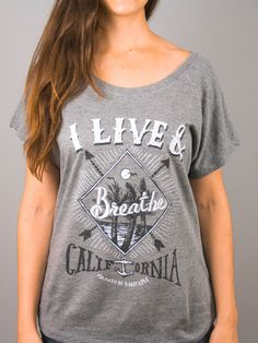 Breathe California Charcoal Shirt