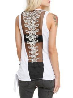 Teenage Runaway Black Spine Top