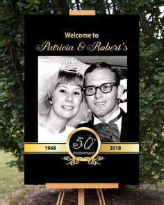 Photo Anniversary Party Welcome Sign