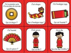 French Chinese New Year J'ai Qui a? class game activity (Le Nouvel An chinois)
