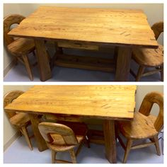 Elm Wood Table and Chairs Wood Table, Table And Chairs, Dining Table, Asian, Rustic, Accessories, Furniture, Home Decor, Country Primitive