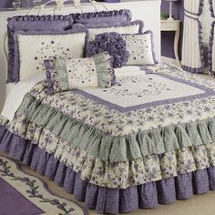 Serenade Grande Ruffled Bedspread Bedding -with accessories  Touch of Class.com