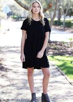 Original Babydoll Dress - Black
