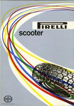 Max Huber, advertisement for Pirelli motor-scooter tyres, 1953 http://www.fondazionepirelli.org
