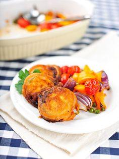 Smažená cuketa s pečeným salátem Cantaloupe, Tacos, Fruit, Food, Essen, Meals, Yemek, Eten
