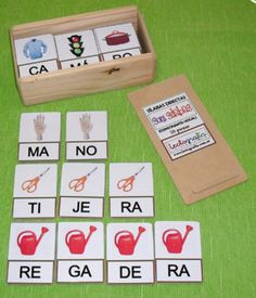 The link doesn't work but I LOVE this idea for multisyllabic words Bilingual Classroom, Bilingual Education, Spanish Classroom, Kids Education, Special Education, Spanish Activities, Educational Activities, Classroom Activities, Learning Activities