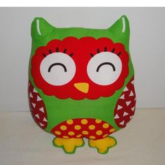 $20.00 Large Christmas Owl Soft Toy by AstroPhoenix on Handmade Australia