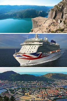 Gobsmackingly great P&O Britannia, Norwegian Fjord, EX-UK, 7 night cruise from ONLY P&o Cruises, Cruise Holidays, Norway, Night, World, Travel, Viajes, Destinations, The World