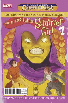 The Unbeatable Squirrel Girl No. 7 Cover Art Featuring: Swarm, Koi Boi, Squirrel Girl Marvel Comics Poster - 30 x 46 cm Fun Comics, Marvel Comics, Squirrel Girl Marvel, Unbeatable Squirrel Girl, Comic Link, Comic Book Collection, The Real Ghostbusters, Scott Pilgrim, Comics Online