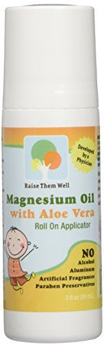 Kid Safe Magnesium Oil. Gentle blend of Magnesium Oil and Aloe Vera will not burn or itch. Easy to Use Roll-on Applicator. Great for Calming, Headaches, and Sleep.* Money Back Guarantee. Raise Them Well http://smile.amazon.com/dp/B013PNZE22/ref=cm_sw_r_pi_dp_3TFrwb0QVDM4Y