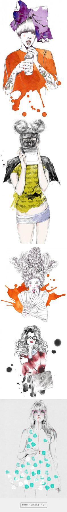 Fashion Illustrations by Esra Roise