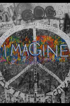 Imagine Peace. picture via Berlin.