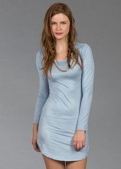 Vestido azul con blanco shasa