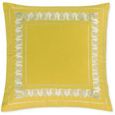Echo Jaipur European Pillow Sham ($40) ❤ liked on Polyvore featuring home, bed & bath, bedding, bed accessories, yellow, yellow euro sham, echo bedding, cotton bedding, embroidered bedding and yellow bedding