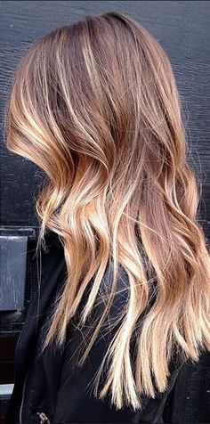 Sombre - sort of ombre, but not like what ombre used to be. The new and now is having your highlights 'tipped out' near the ends, and blended super fine at the roots.