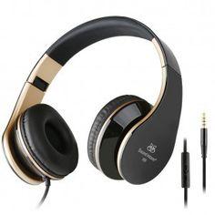 Sound Intone ヘッドホン 密閉型 ブラック&ゴールデン I60