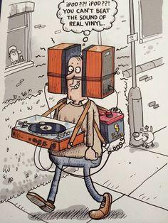 caricature vinyle