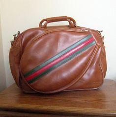 Another vintage tennis racket bag!  Love!