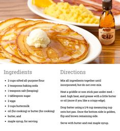 Cracker Barrel buttermilk pancakes!