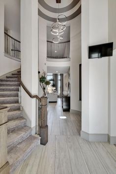 Photo after photo of beautiful Westin Homes Dream House Interior, Luxury Homes Dream Houses, Dream Home Design, Modern House Design, My Dream Home, Home Interior Design, Luxury Staircase, House Staircase, Staircase Design