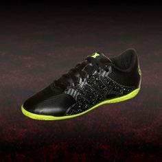 38b3fc687ab563 adidas X 15.4 IN Junior Fußball Hallenschuh Kinder schwarz lime   hallenfußballschuhe  adidas