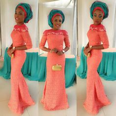 Check Out This Beautiful Lace Style http://www.dezangozone.com/2016/06/check-out-this-beautiful-lace-style.html