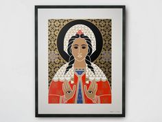 SAINT LUCY Póster Colección Saint Lucy by TuttiSanti diseño FF3300 - Visual arts