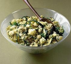 Throw together a deliciously tangy and superhealthy couscous salad in just 10 minutes, from BBC Good Food Couscous Healthy, Couscous How To Cook, Couscous Salad, Couscous Recipes, Quinoa Salad, Bbc Good Food Recipes, Cooking Recipes, Healthy Recipes, Healthy Meals