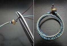 Como hacer pulseras de hilo encerado