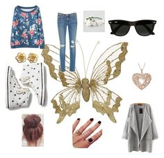 """""""Untitled #25"""" by starlord221b on Polyvore featuring beauty, Frame Denim, Keds, Ray-Ban, Melanie Auld and Full Tilt"""