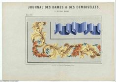 SAJOU Berlin WoolWork Border Patterns Produced In France ~ Journal Des Dames Et Des Damoiselles IN March 1857 ~ MoMu