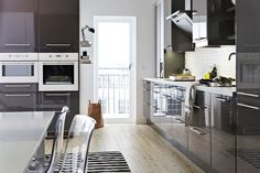 Charcoal Gloss - Kitchen Design Ideas & Pictures – Decorating Ideas (houseandgarden.co.uk)