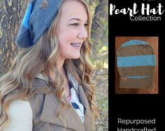 Repurposed, handcrafted, one-of-a-kind hat. Matching hat donated to a child or adult with a chronic illness. #spreadloveandhats