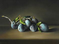 birdcagewalk:  stilllifequickheart: Charles Menge Still Life with Plums 1979