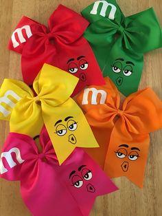 Cute Cheer Bows, Cheer Hair Bows, Diy Hair Bows, Diy Bow, Diy Ribbon, Ribbon Bows, Grosgrain Ribbon, Ribbon Hair, Cheap Ribbon