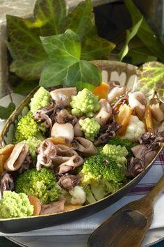 Puntillas con verduras...