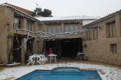 La casa después de una nevada