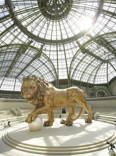 Stage for a Chanel runway show at the Grand Palais in Paris Chanel Fashion Show, New Fashion, Runway Fashion, Couture Fashion, Trendy Fashion, Winter Fashion, Chanel Runway, Chanel Paris, Chanel Chanel