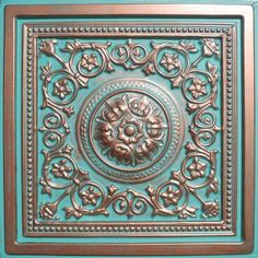"Majesty Antique Copper Patina (24x24"" $6.60-amazon).  Use these on furniture doors or side panels.  Can also be easily painted."