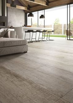 Cotto d'Este - Porcelain tiles and Kerlite for Floors and Walls Interior Architecture, Interior And Exterior, Timber Flooring, Interior Design Living Room, Hardwood, Sweet Home, New Homes, House Design, Home Decor