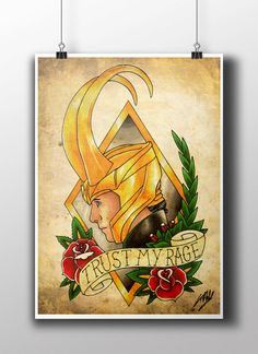 Loki Tattoo Parlour Poster Print by NebulaPrints on Etsy https://www.etsy.com/uk/listing/223238125/loki-tattoo-parlour-poster-print