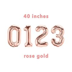 CUSTOM Number Balloons  40 Rose Gold Number Balloons Rose Gold Number Balloons, Gold Party, 21st Birthday, Sleepover, House Warming, Numbers, 18th, Decorations, Unique Jewelry