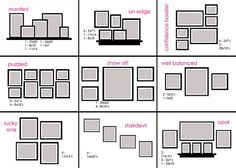 Layouts for wall decorations