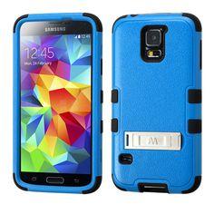 MYBAT TUFF Hybrid M-Stand Case for Samsung Galaxy S5 - Blue/Black